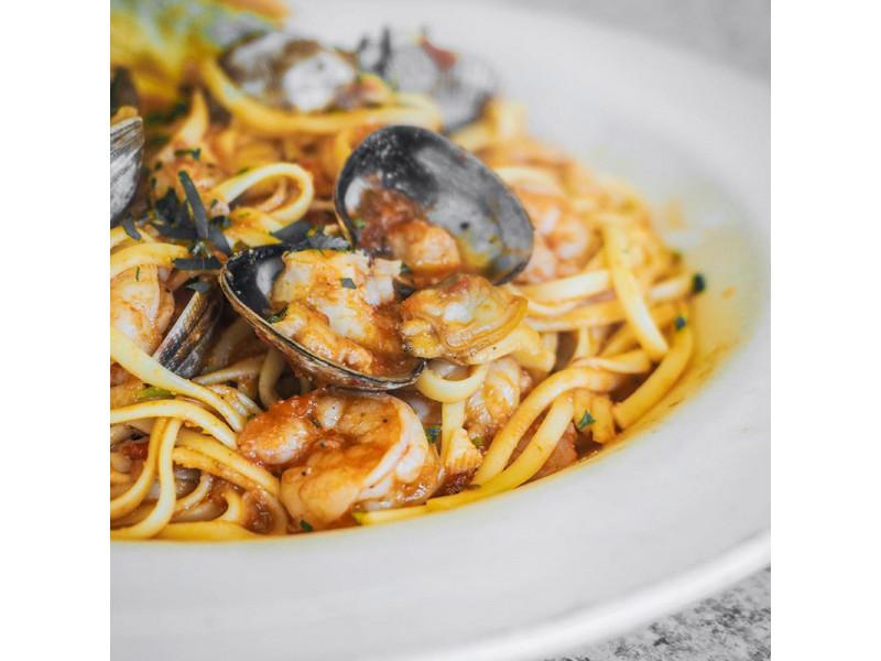 Легкий рецепт итальянской пасты с морепродуктами