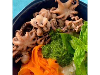 Осьминоги с овощами