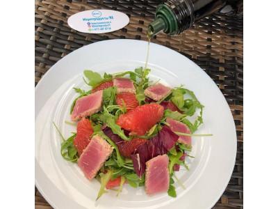 Летний цитрусовый салат с Тунцом
